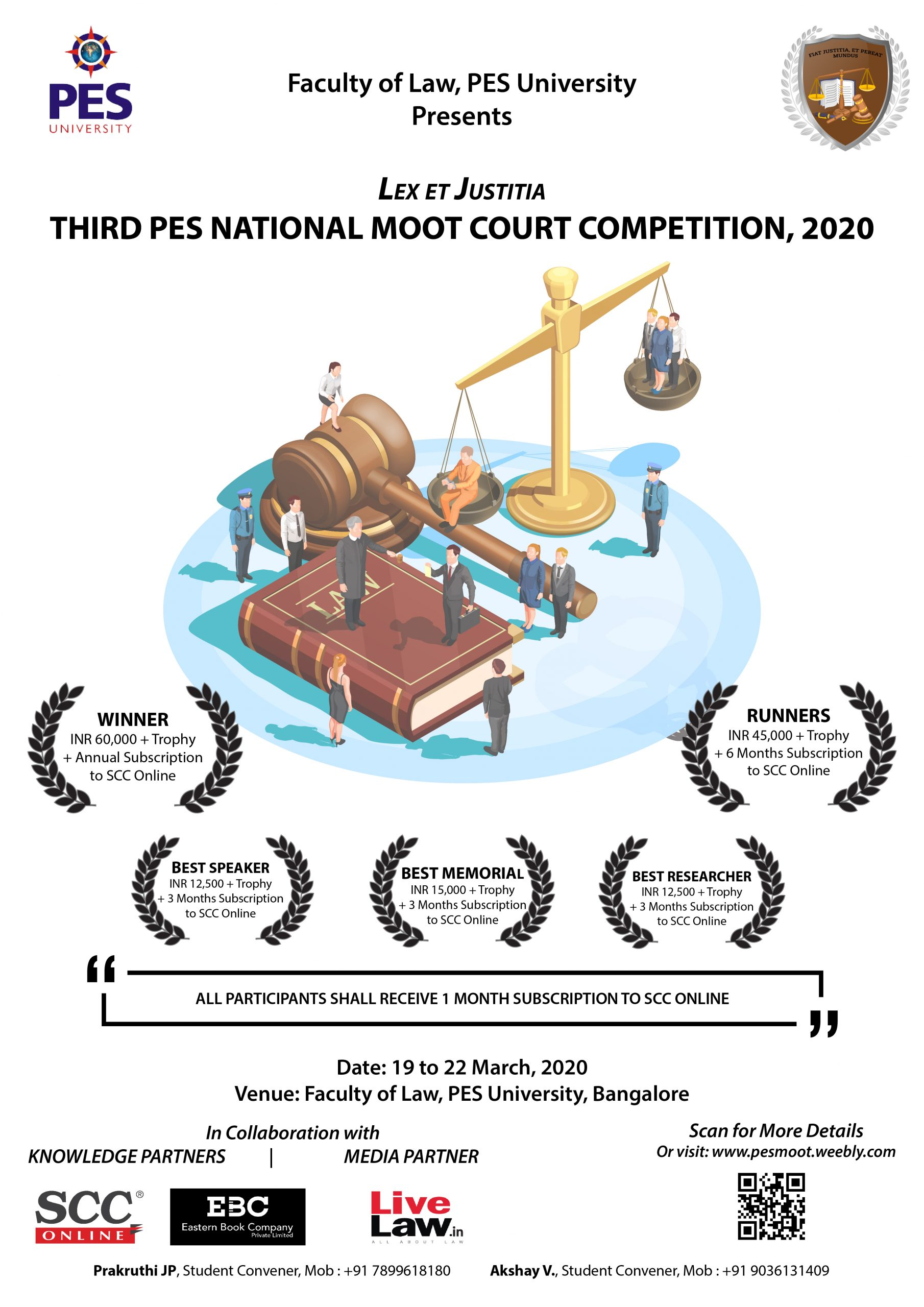 3rd National Moot Court Competition at PES University Faculty of Law, Bangalore