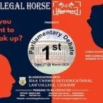 Legal Horse's 1st Parliamentary Debate at Maa Vaishno Devi Law College, Lucknow