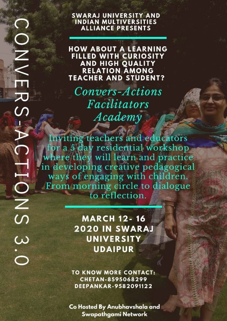 Convers-actions swaraj university udaipur