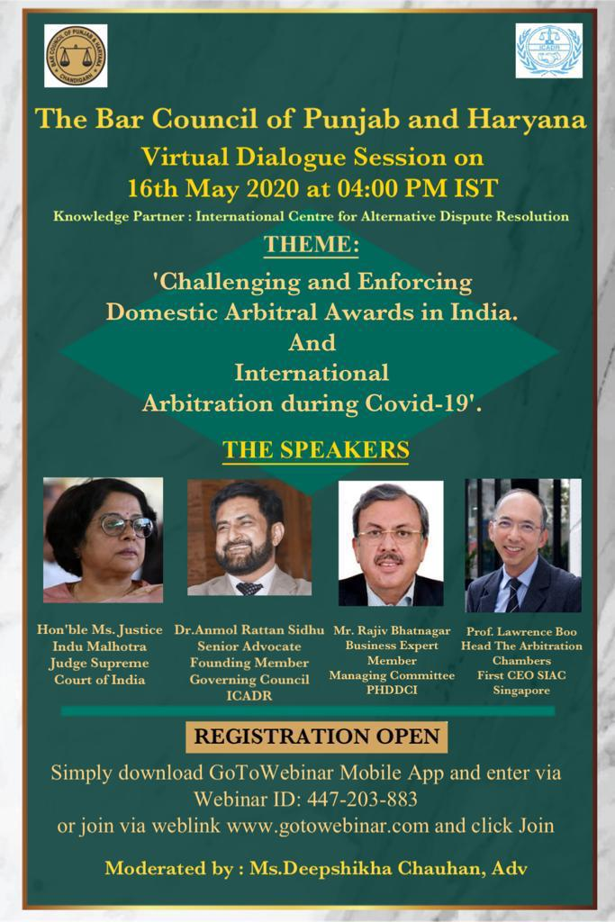 Bar Council of Punjab and Haryana's Virtual Dialogue Session