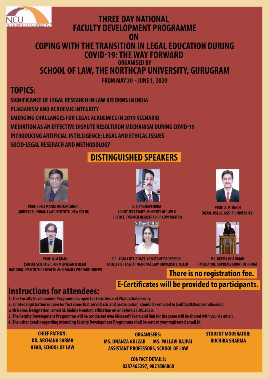 NorthCap University Faculty Development Programme