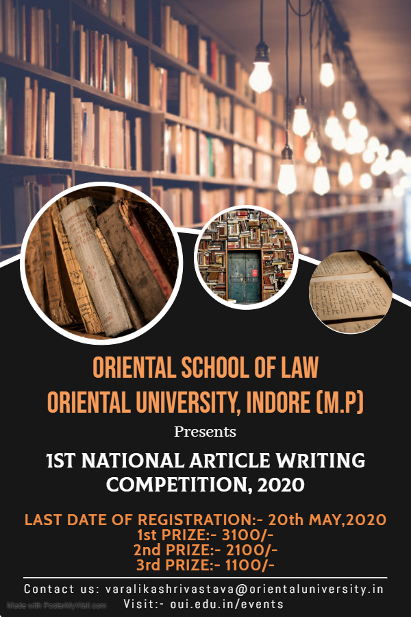 Oriental School of Law Article Competition