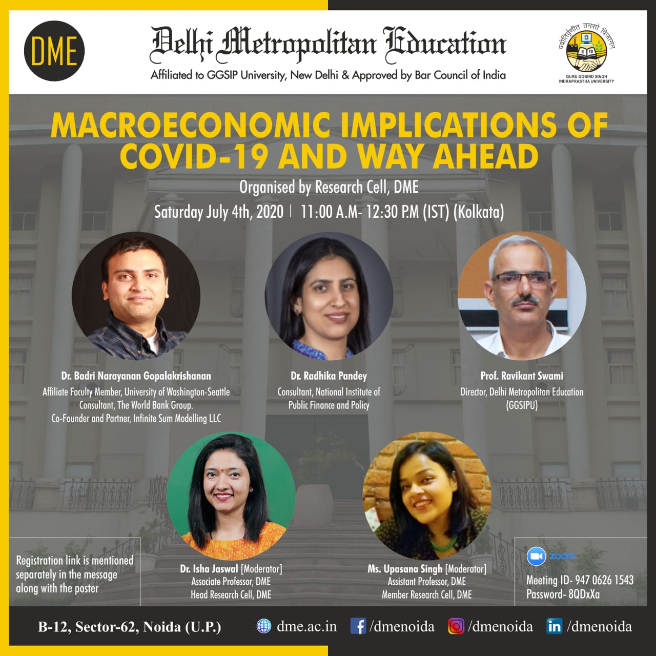 Panel Discussion on Macroeconomic Implications of COVID-19 by DME