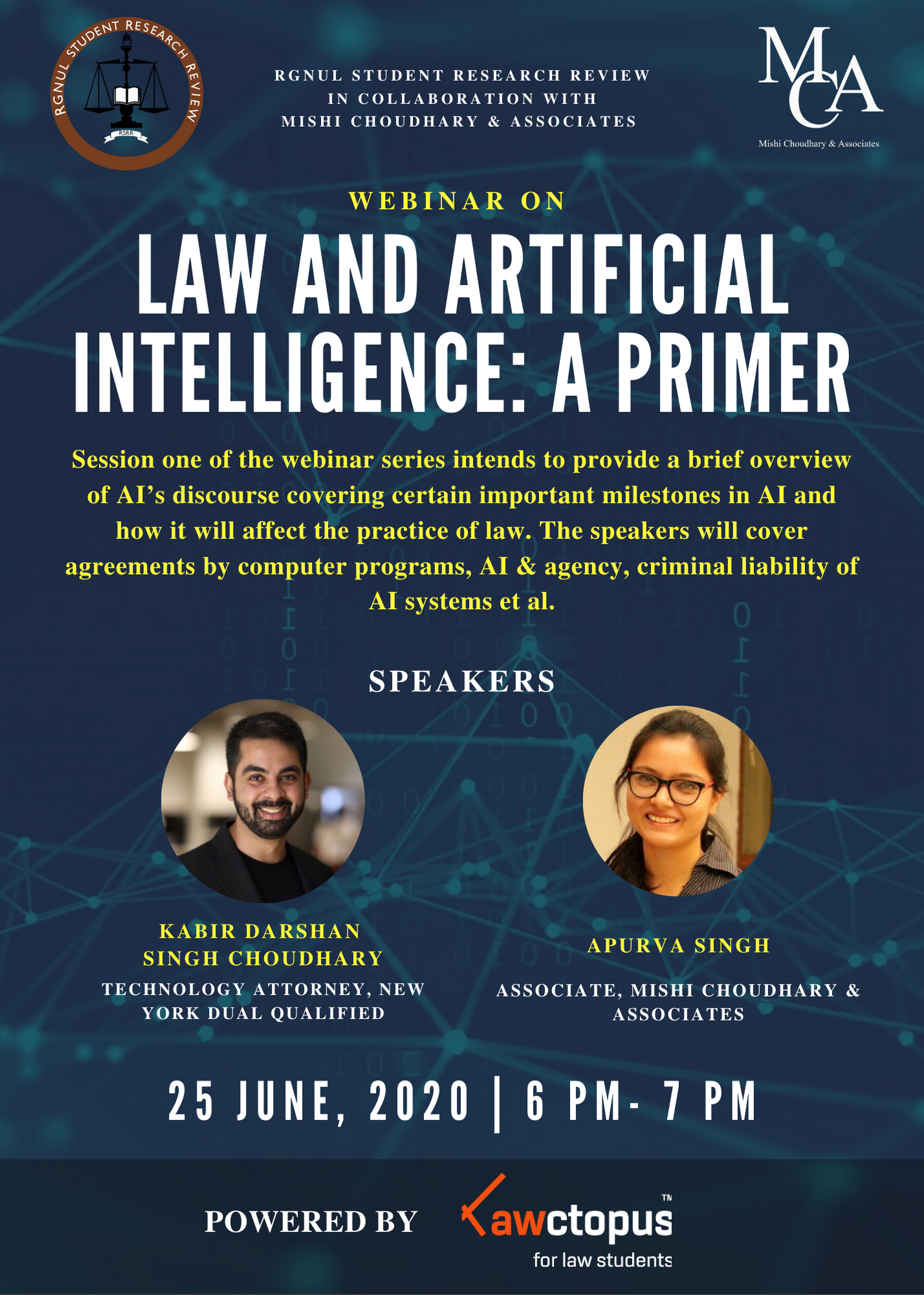 Law and Artificial Intelligence- A Primer