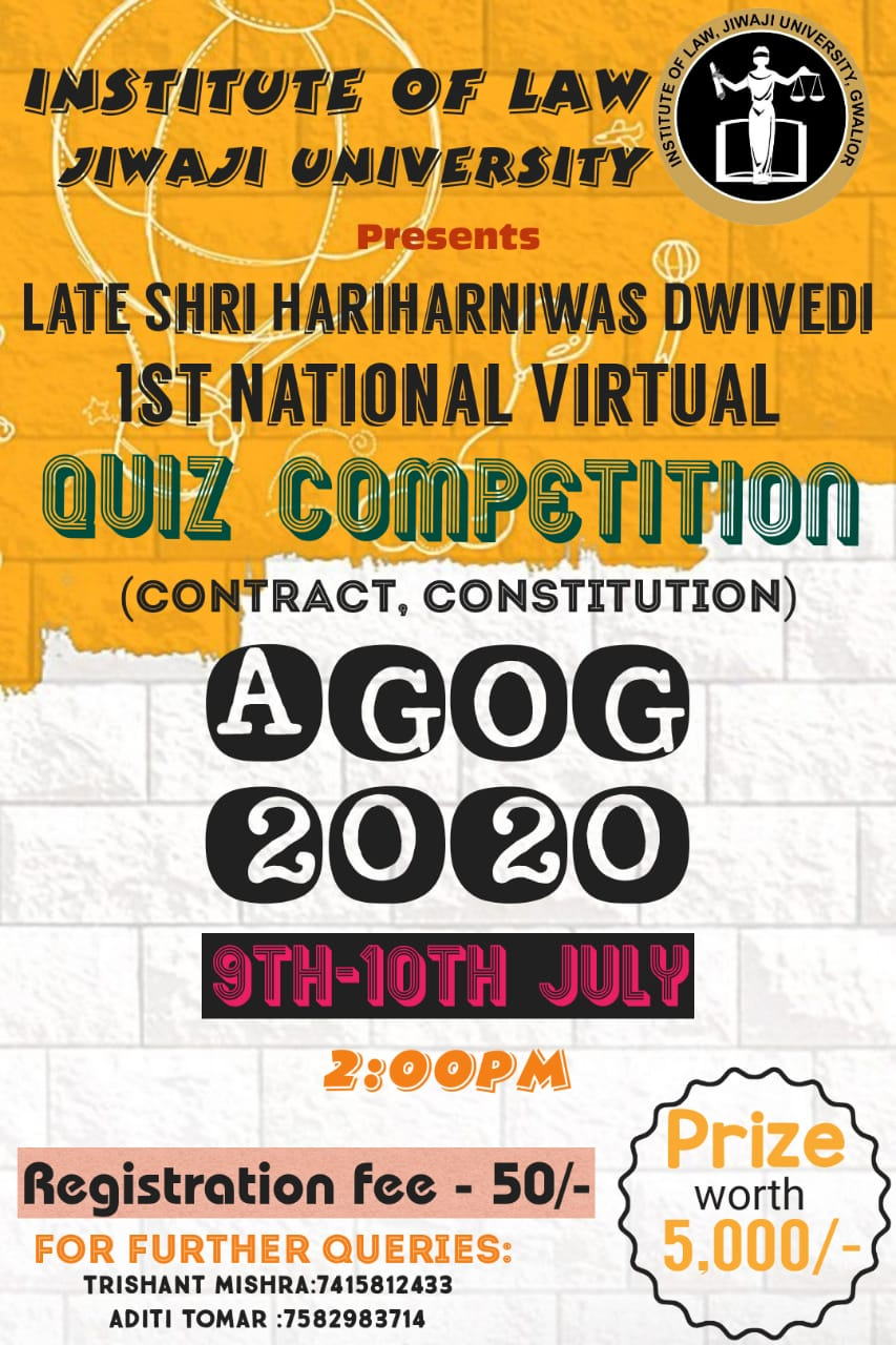 Quiz Competition by Institute of Law, Jiwaji University