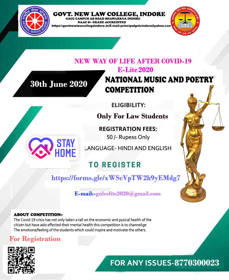 GNLC Indore's 1st Cultural Virtual Competition