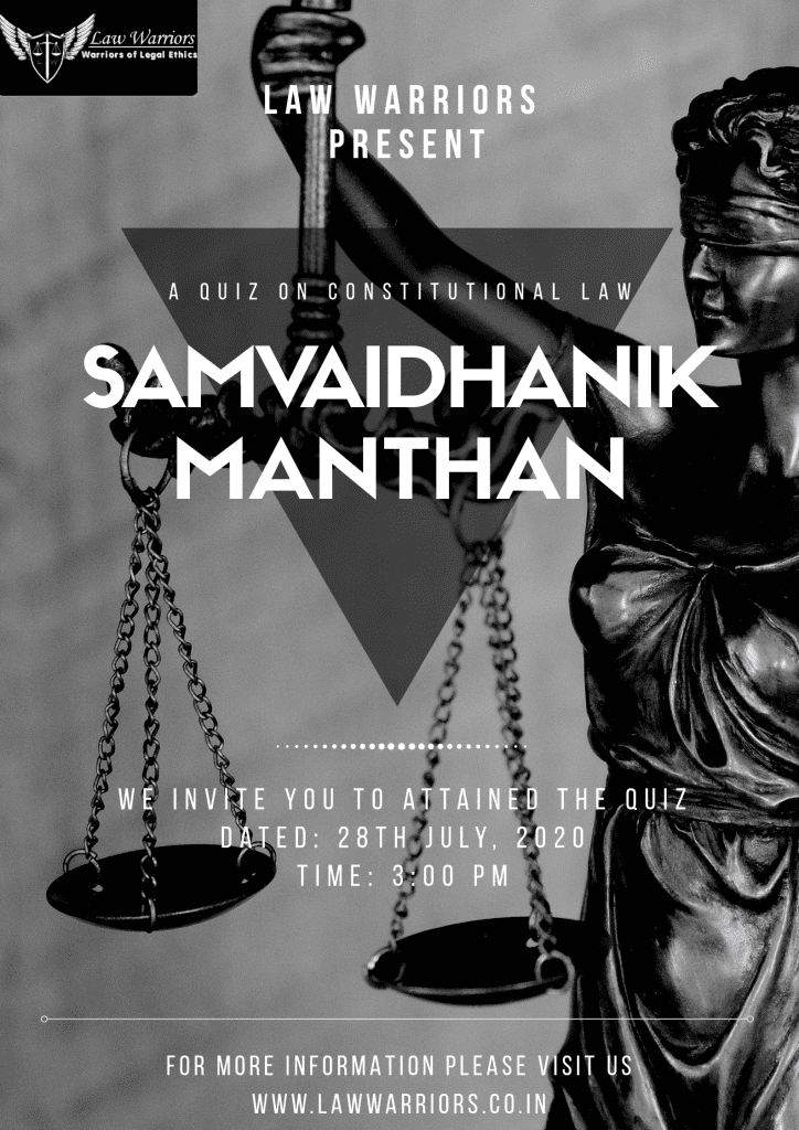 Samvaidhanik Manthan: Constitutional Law Quiz by Law Warriors