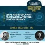 Webinar on Legal and Regulatory Framework Affecting Cryptocurrency by RGNUL Book Series