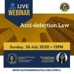 FastForward Justice's Webinar on Anti-defection Law