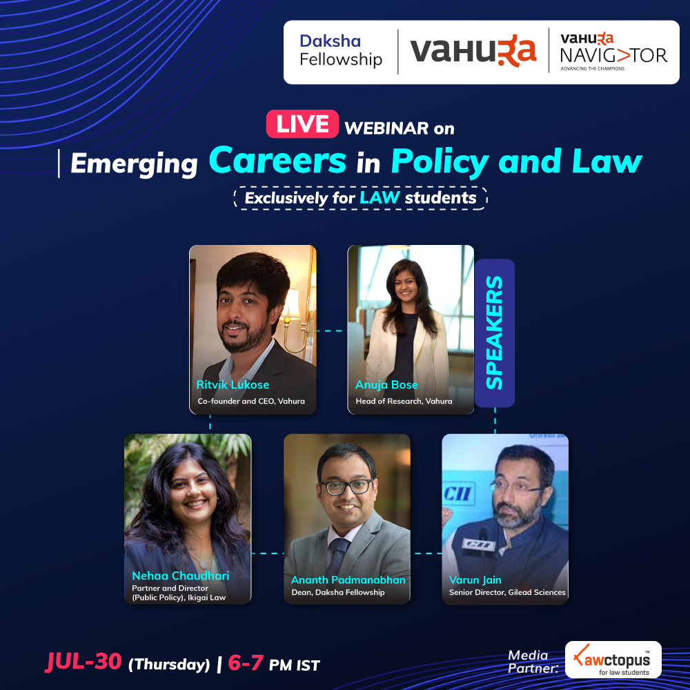 Daksha Dialogues on Emerging Careers in Policy and Law