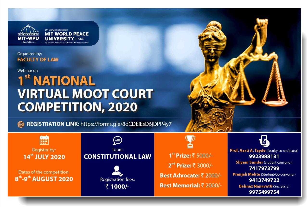 Virtual Moot Court Competition at MIT-World Peace University