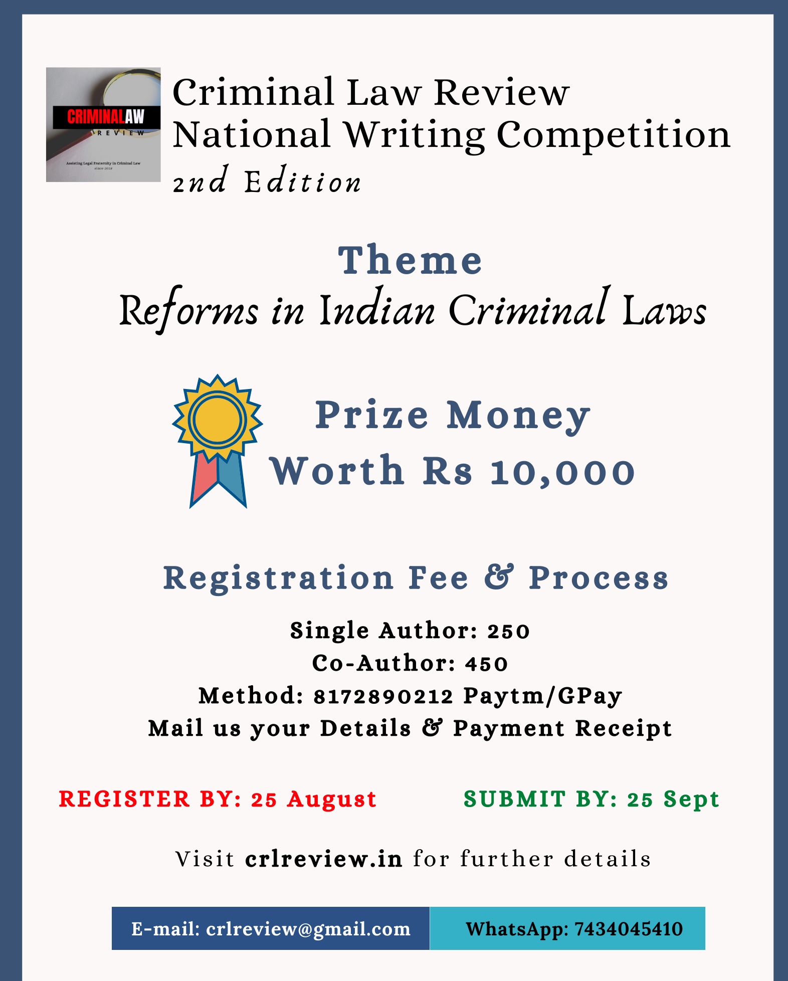 Criminal Law Review Writing Competition