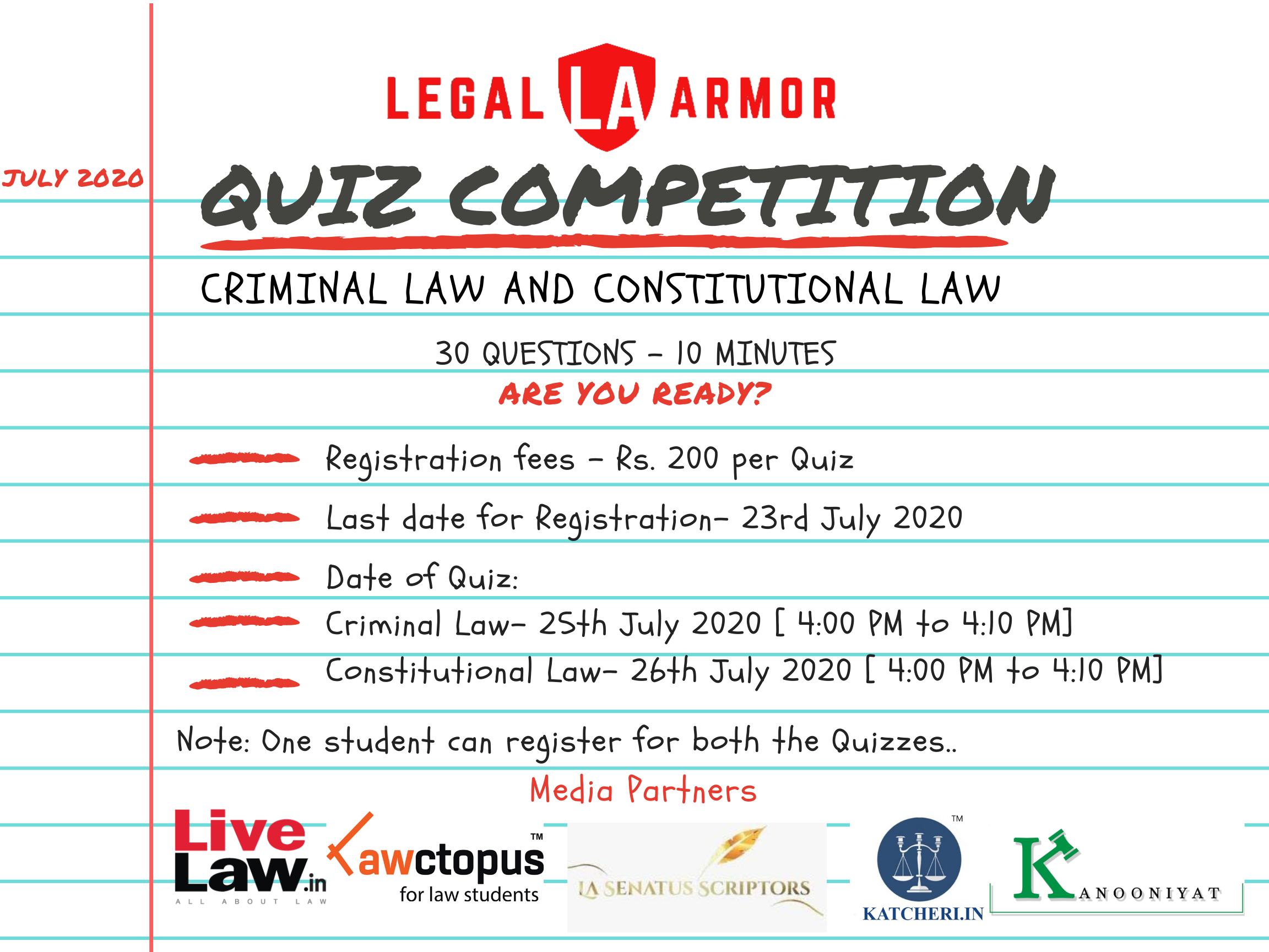 Legal Armor Quiz Competition