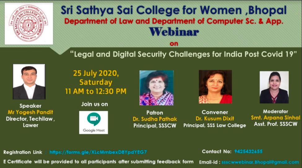 Sri Sathya Sai College for Women's Webinar