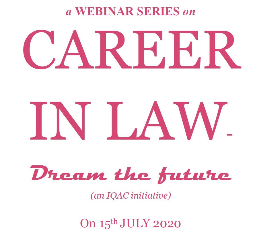 webinar careers in law