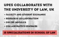 UPES, School of Laws's LLB and LLM Programs