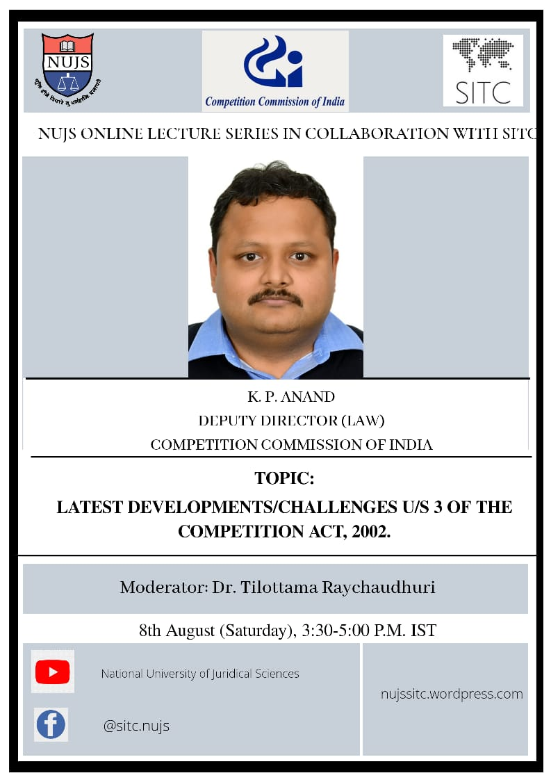 NUJS, Society for International Trade and Competition Law Online Lecture Series