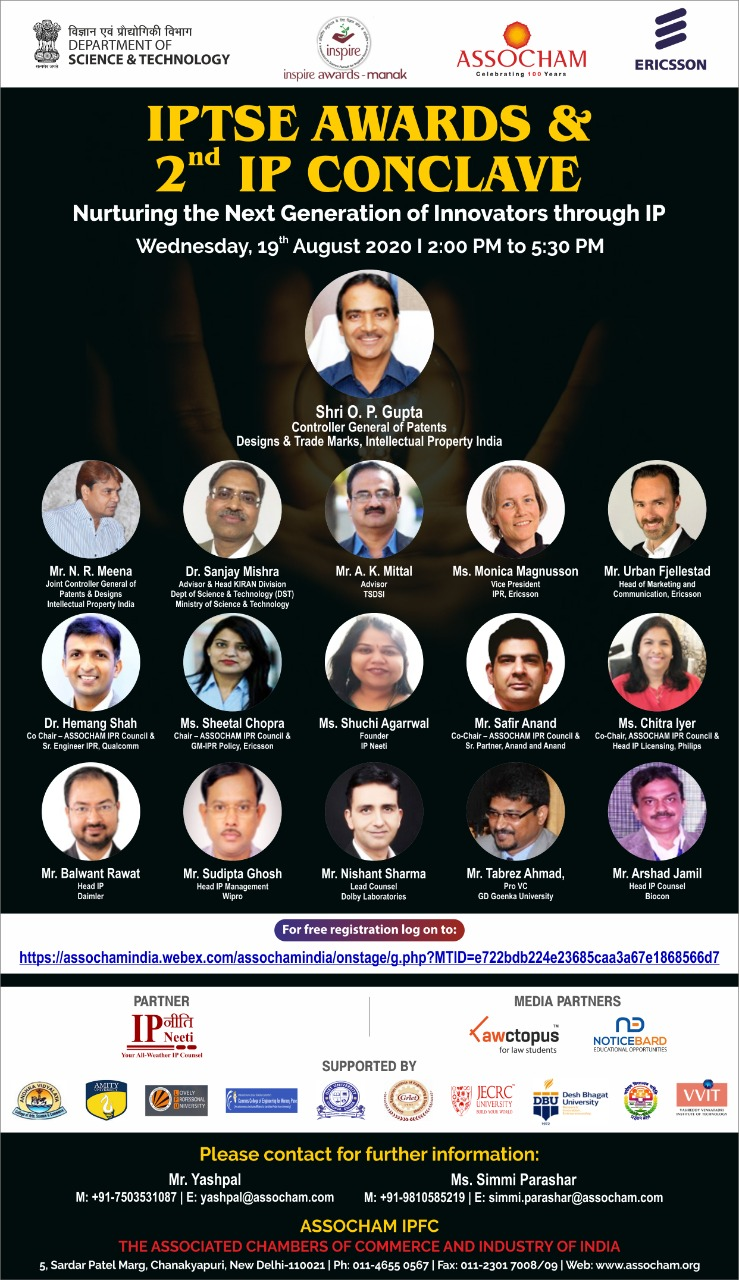 2nd IP Conclave & IPTSE Awards 2020 by ASSOCHAM