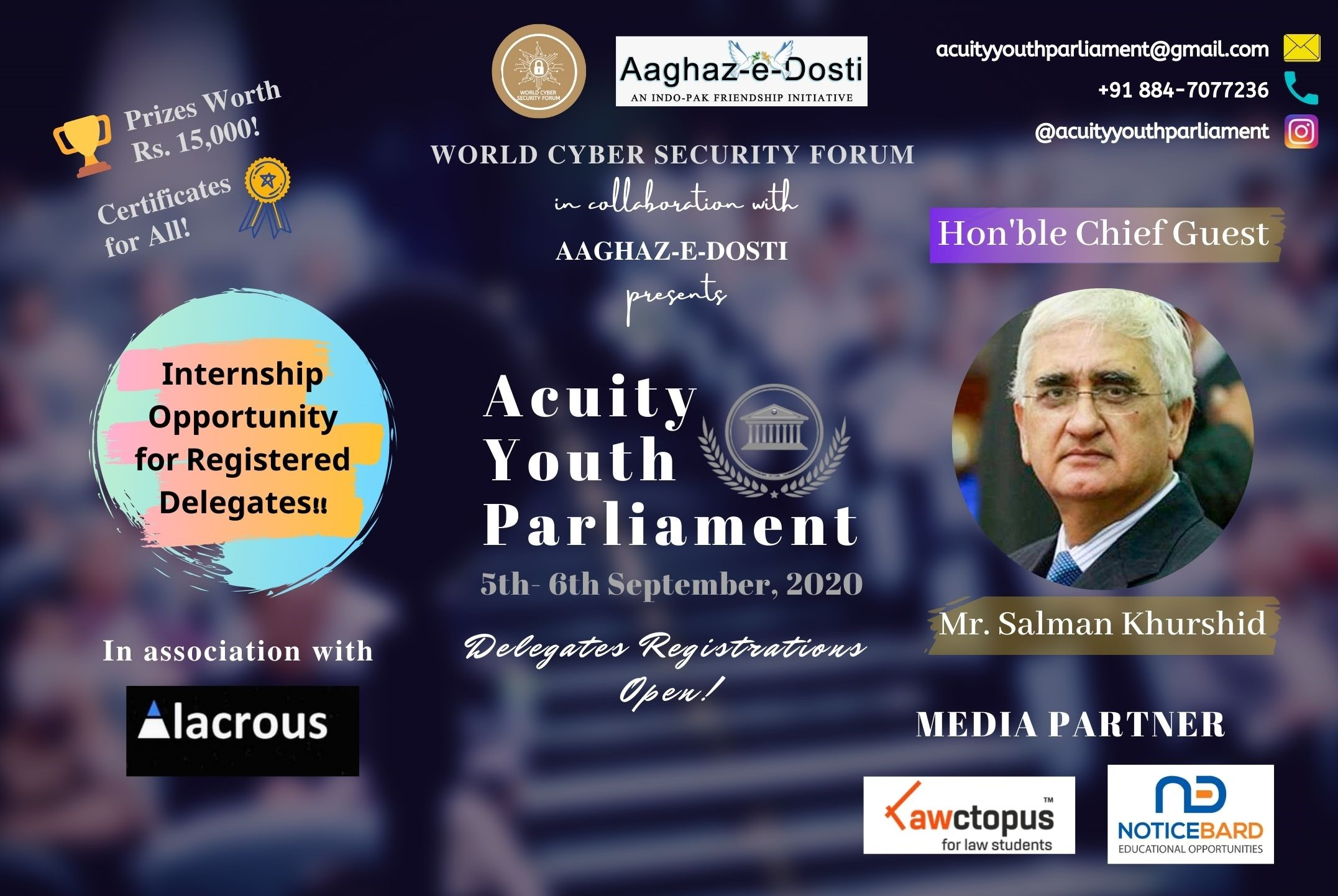 World Cyber Security Forum's Online Acuity Youth Parliament 2020