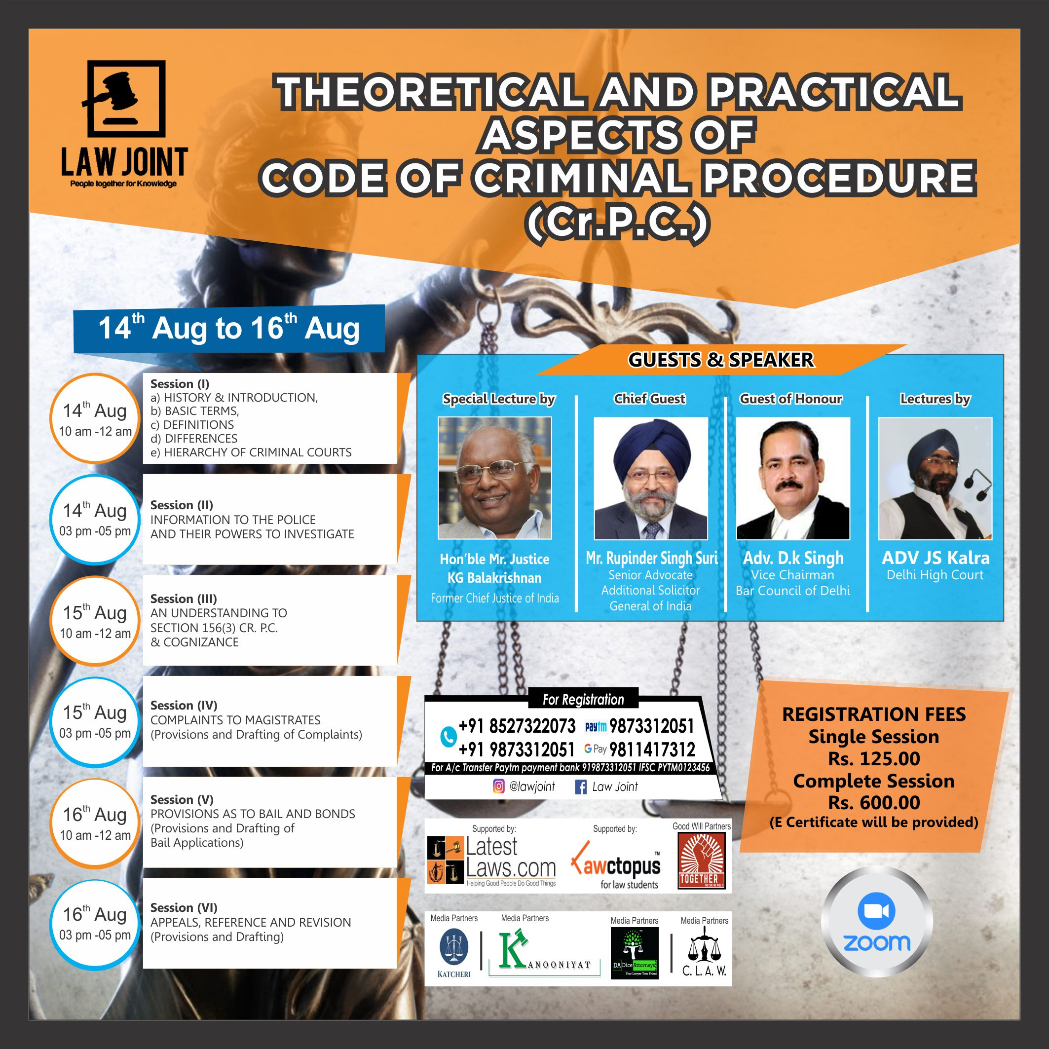Lecture Sessions on Code of Criminal Procedure by Law Joint