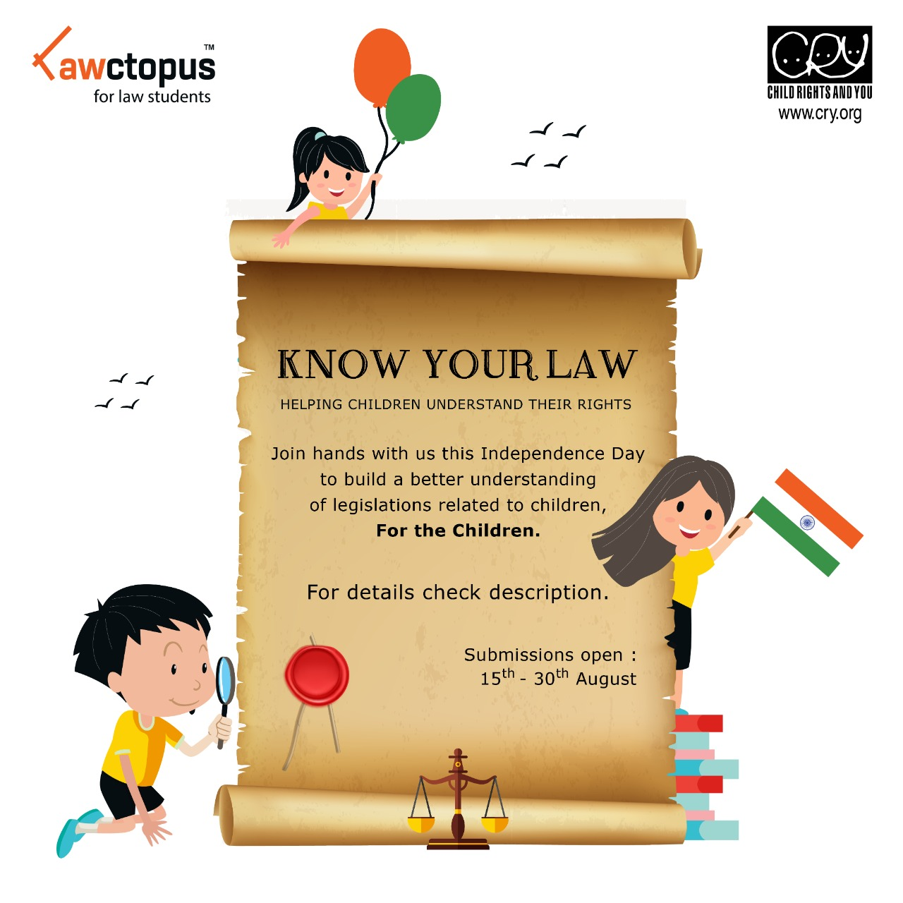 Know your Law Event by CRY