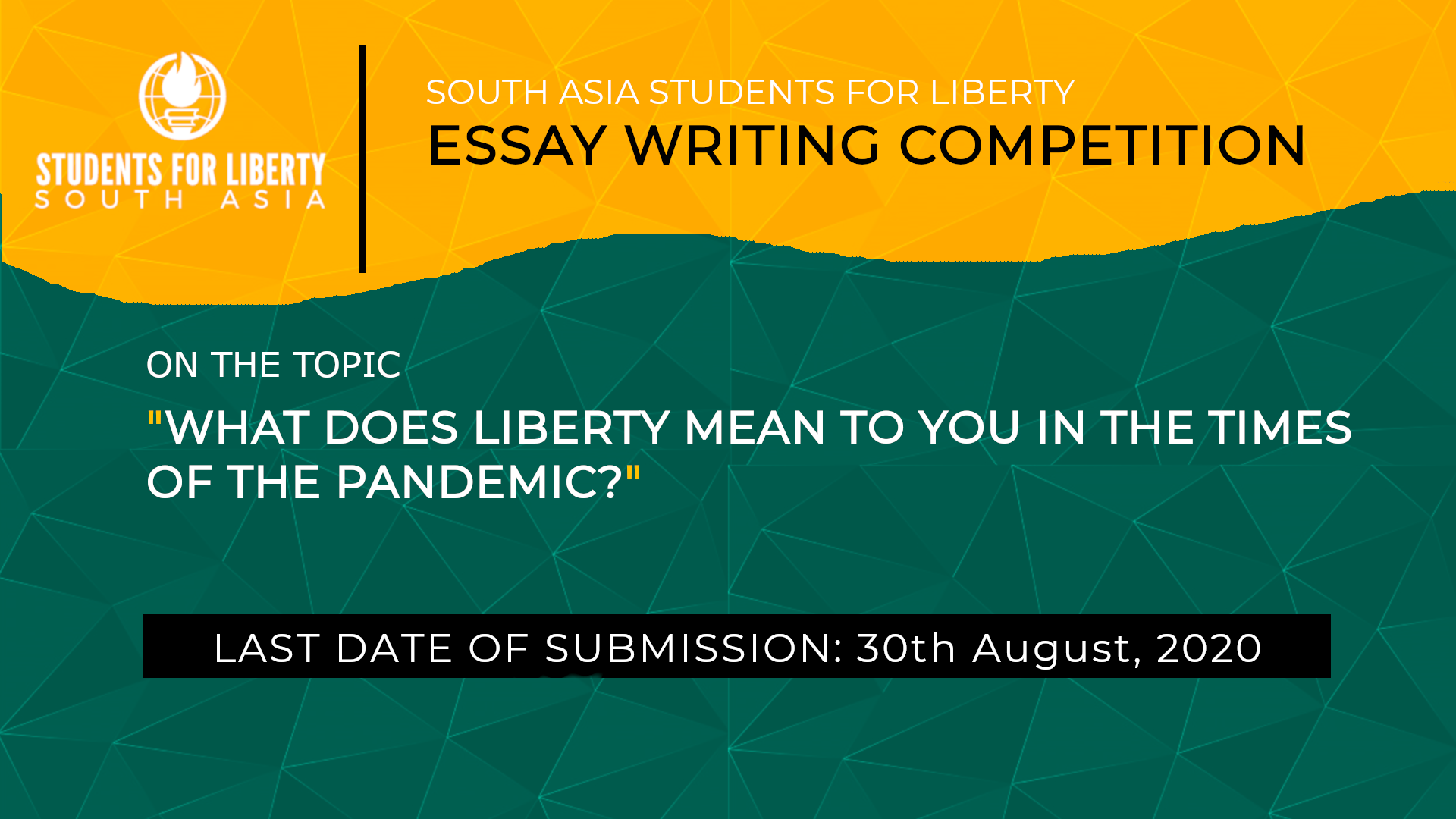South Asia Students For Liberty's Short Essay Writing Competition