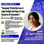 Law Audience's Webinar on Consumer Protection Law