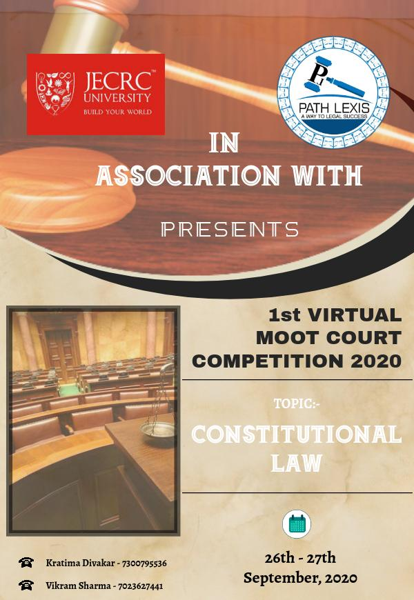 1st Virtual Moot Court Competition by JECRC University and Path Lexis