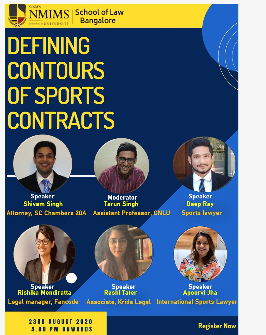 National Virtual Panel Discussion on Sports Law by NMIMS