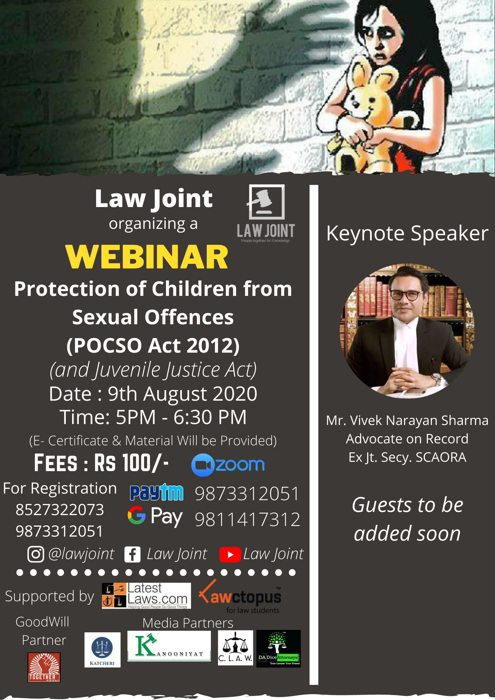 Law Joint's Webinar on POCSO Act 2012 & Juvenile Justice Act