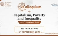 CCS eColloquium on Capitalism, Poverty and Inequality