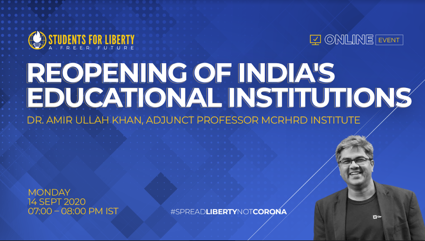 SASFL's Speaker Session on Reopening of India's Educational Institutions