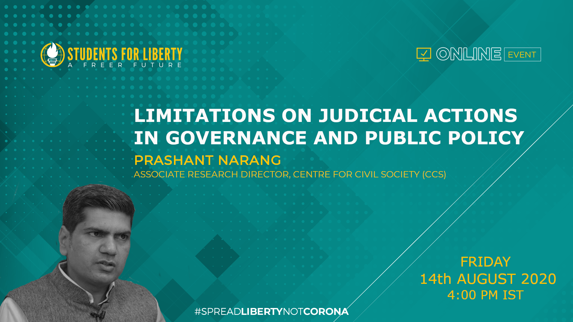 SASFL's Webinar on Limitations on Judicial Action in Governance and Public Policy