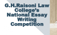 G.H. Raisoni Law College's National Essay Writing Competition
