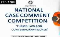 Legisnations' Case Comment Writing Competition