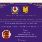 NLU Delhi & Rajiv Gandhi National Institute of Intellectual Property Management's Symposium