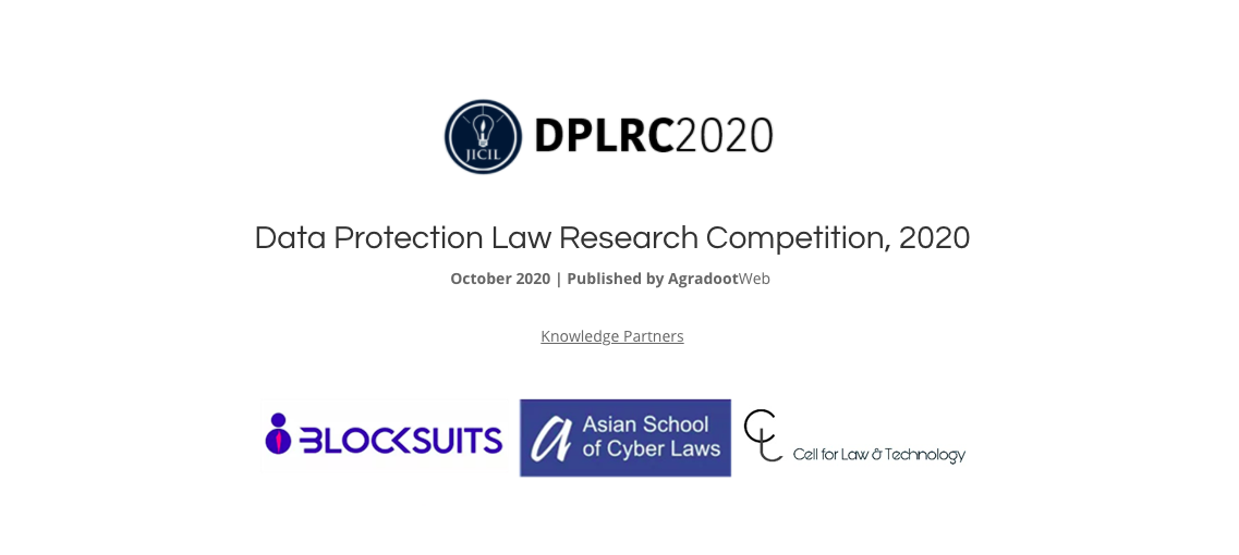 JICIL's Data Protection Law Research Competition 2020