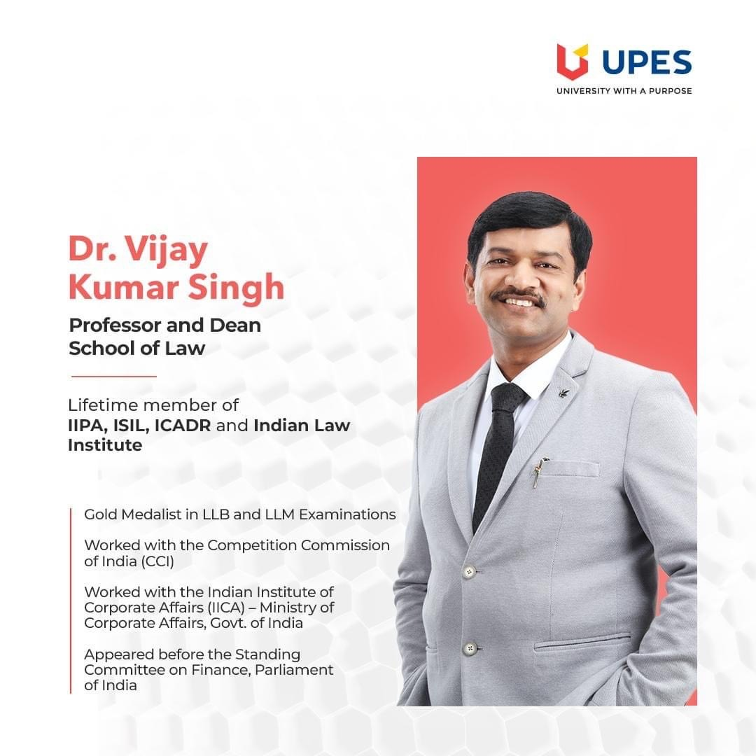 UPES Webinar on Law as a Career Option