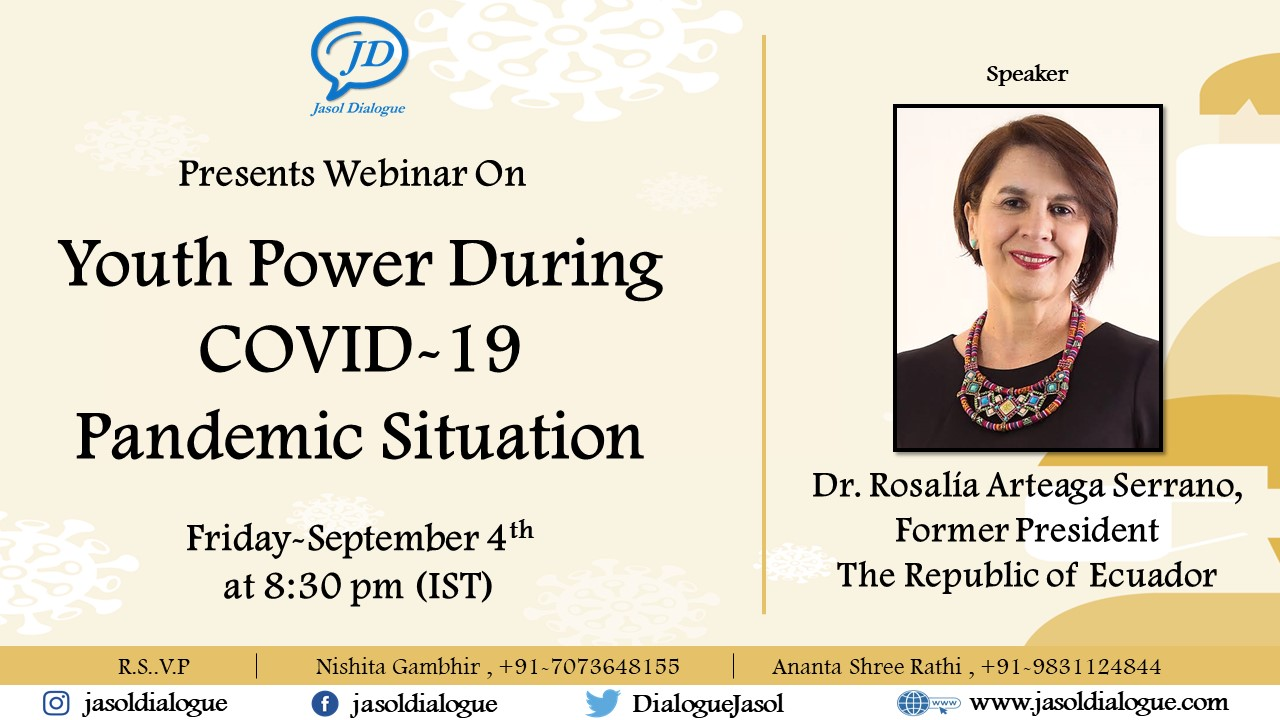 Webinar on Youth Power During COVID-19 Pandemic Situation by Jasol Dialogue