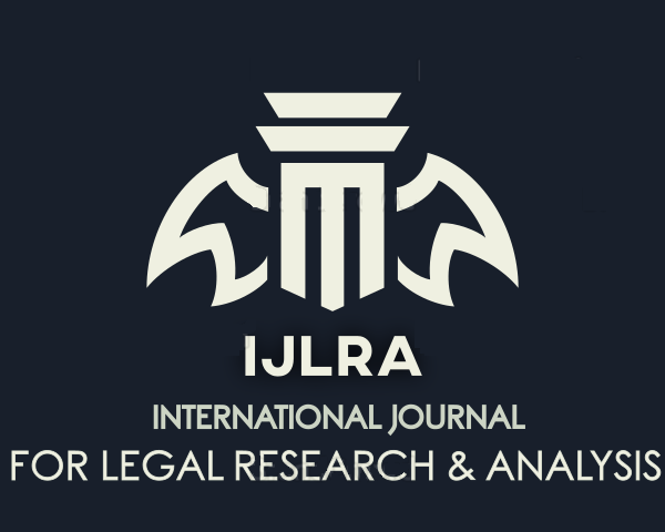 International Journal for Legal Research and Analysis