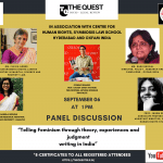 Panel Discussion on Telling Feminism by Quest Socio-Legal Review