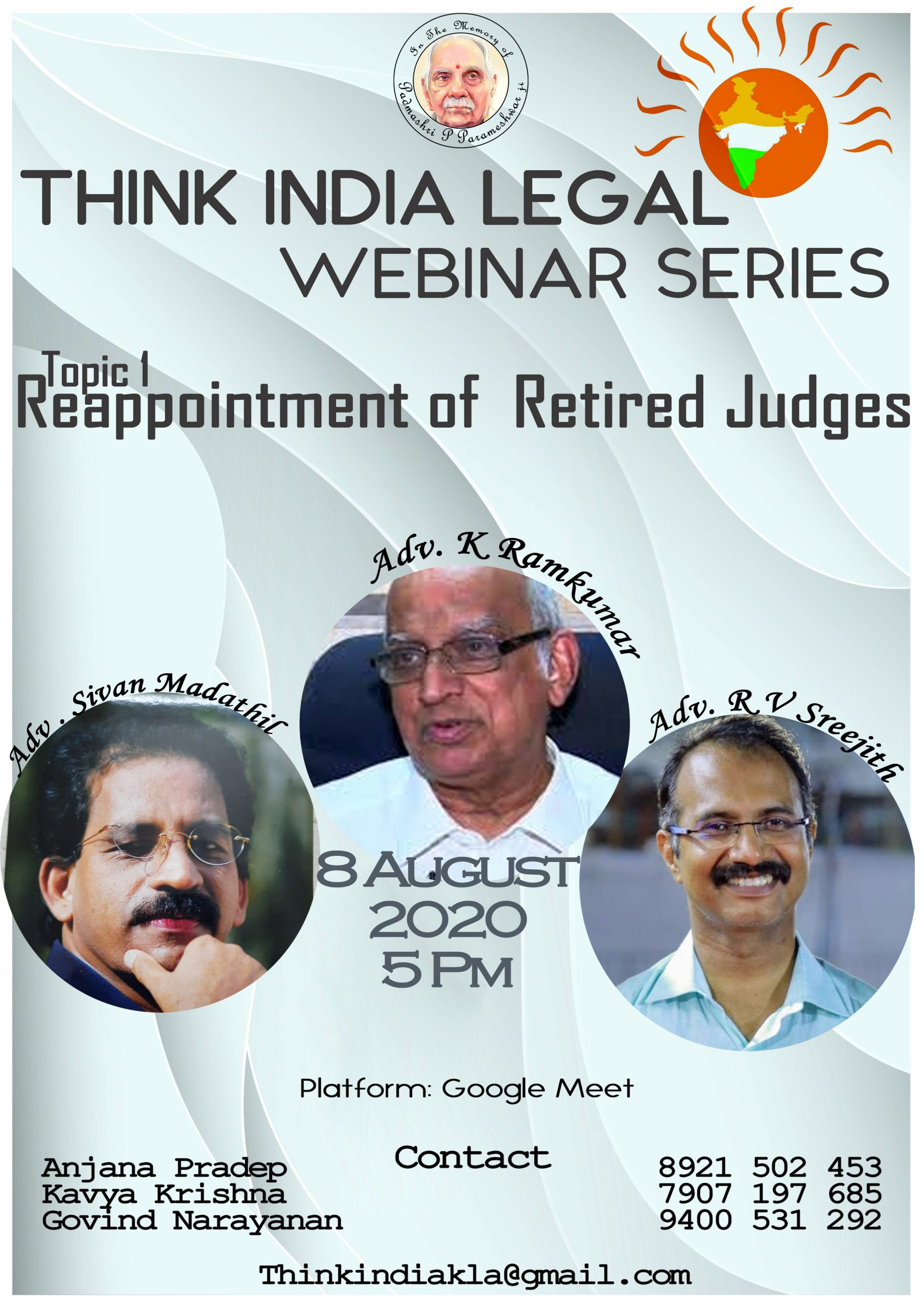 Think India's Webinar Series on Reappointment of Retired Judges