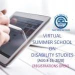 Virtual summer school on disability studies