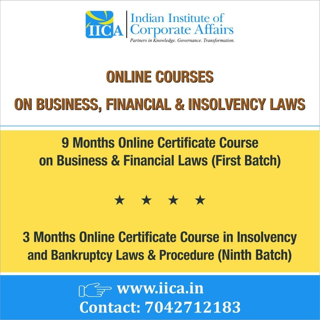 Indian Institute of Corporate Affairs' Online Courses