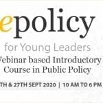 CCS' 2-Days Online Introductory Course in Public Policy: 'epolicy'