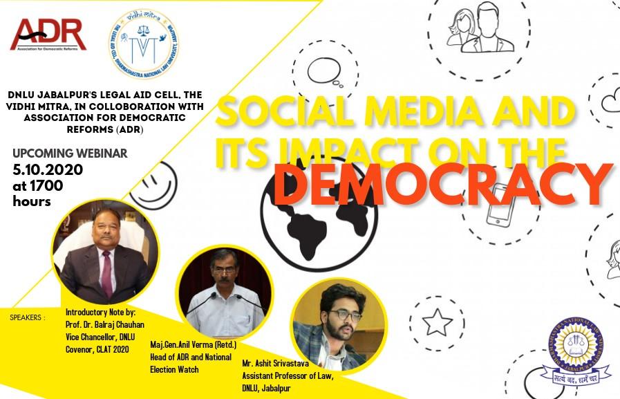 DNLU's Webinar on Social Media and its Impact on the Democracy
