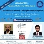 HNLU Alma Matters Webinar on Law School to Law Firm: Convergence and Divergence