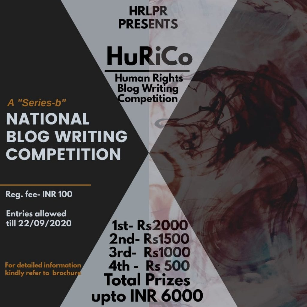 National Blog Writing Competition by Human Rights Law & Policy Review Blog