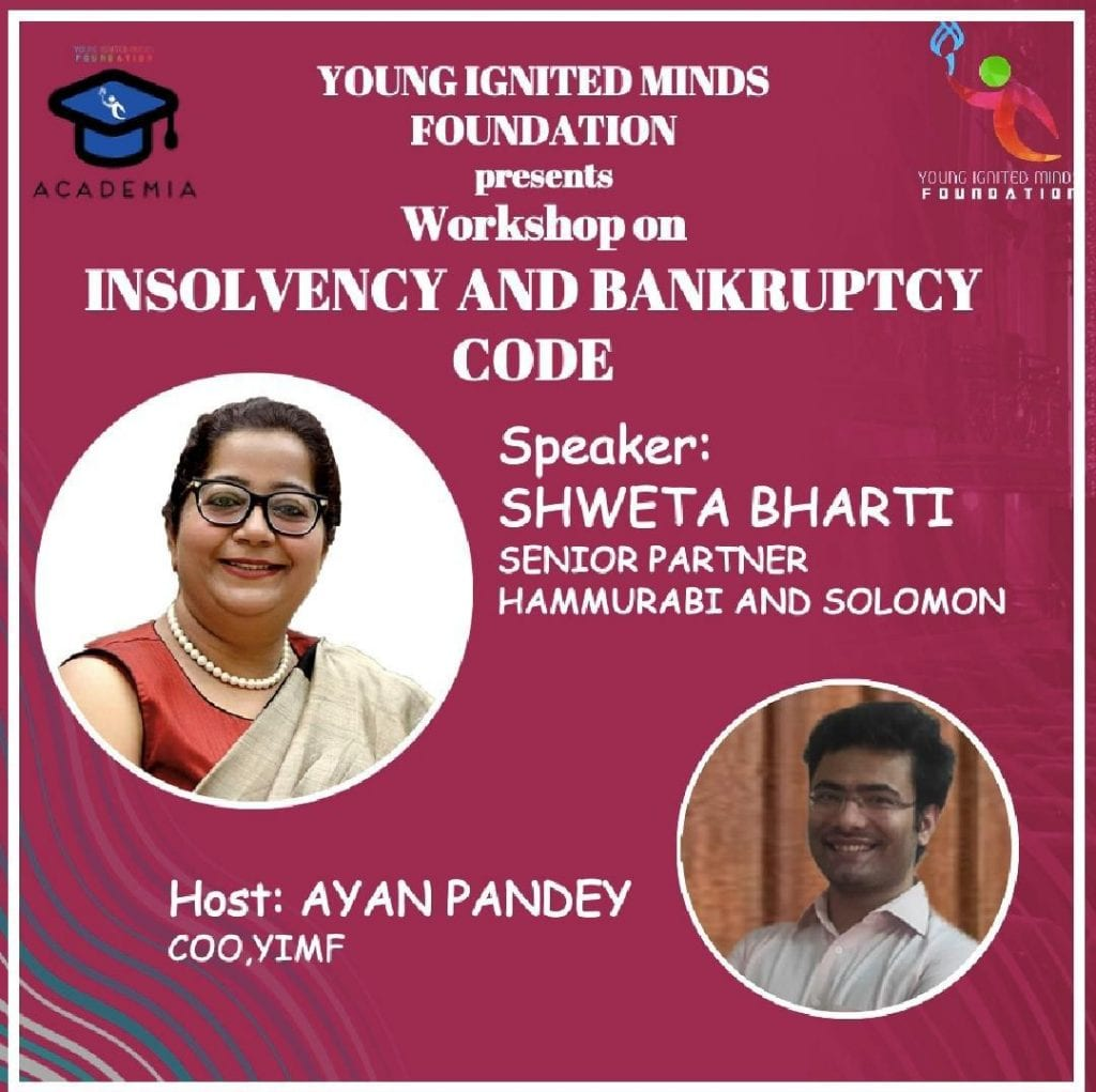 YIMF Workshop on Insolvency and Bankrupcy Code