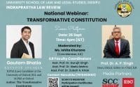 Indraprastha Law Review's Webinar on Transformative Constitution